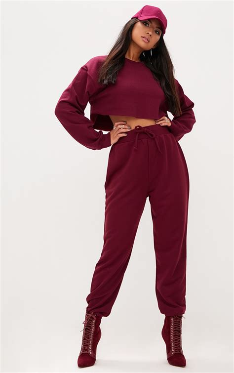 Maroon Ultimate Sweat Joggers | Winter outfits dressy
