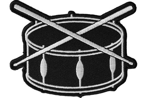 Drum and Sticks Music Band Iron on Novelty Patch