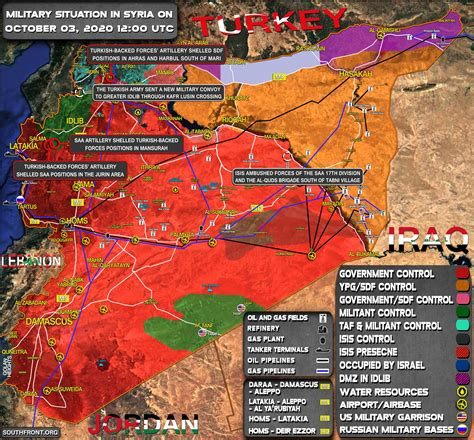 Military Situation In Syria On October 3, 2020 (Map Update)