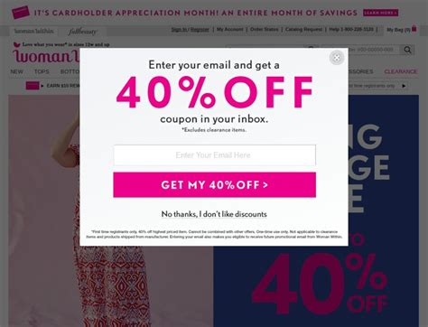 Woman Within Coupons & WomanWithin