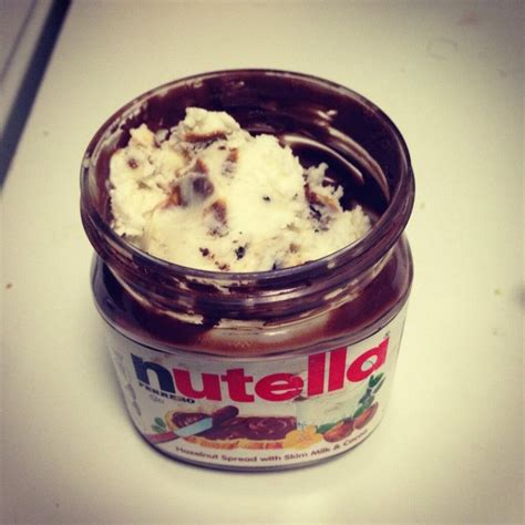 To get the last out of your jar of nutella, fill it with