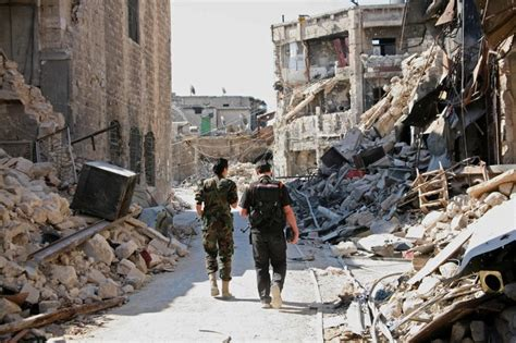 Historic buildings blown up in Syria's Aleppo