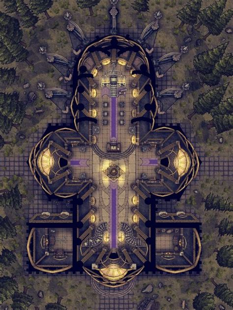 Drow Temple | Fantasy city map, Dungeon maps, Tabletop rpg