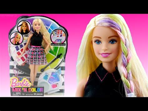 Barbie Mix N Color Doll - How to Color Barbie Hair - YouTube