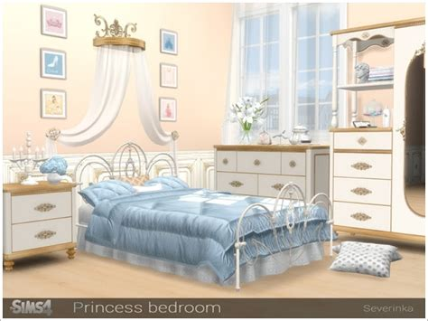 Sims 4 CC's - The Best: Princess Bedroom by Severinka