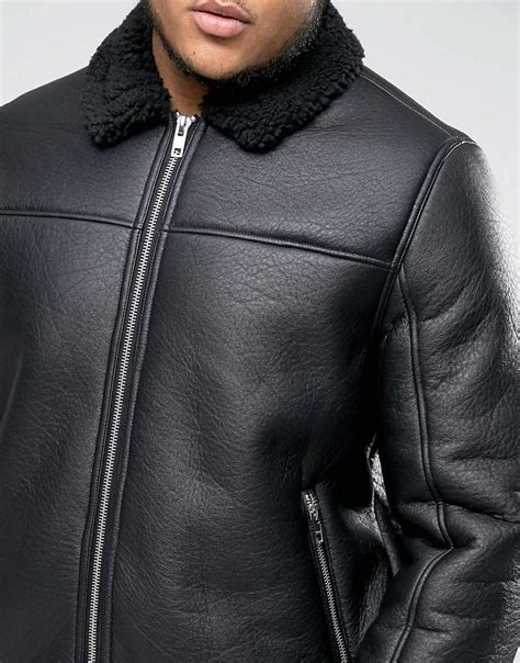 Barneys Originals Barneys Plus Faux Leather Bomber With