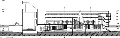 Tourette Monastery Section DWG Section for AutoCAD