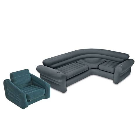Intex Inflatable Corner Couch Sectional Sofa and Pull-Out