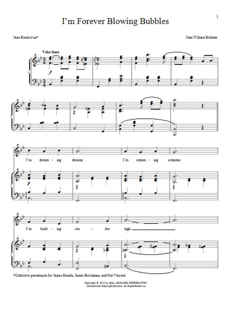 I'm Forever Blowing Bubbles sheet music by Jean Kenbrovin