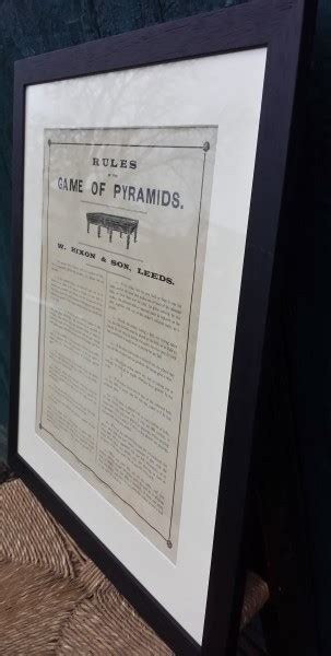 Rules of the game of Pyramids|W Hixon | Browns Antiques