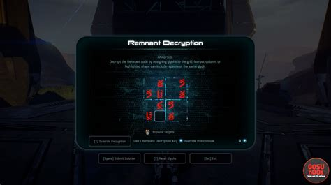 Mass Effect Andromeda Remnant Decryption - Glyph Puzzle