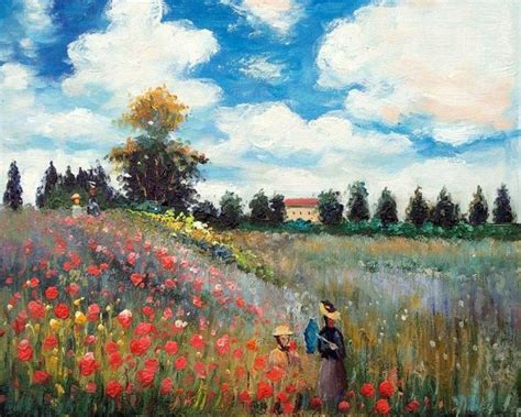 Famous Canvas Wall Oil Painting Reproduction Poppy Field
