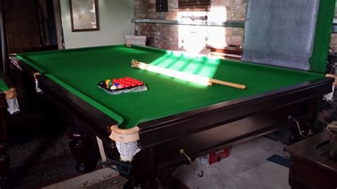 Antique full size snooker table in mahogany | Browns