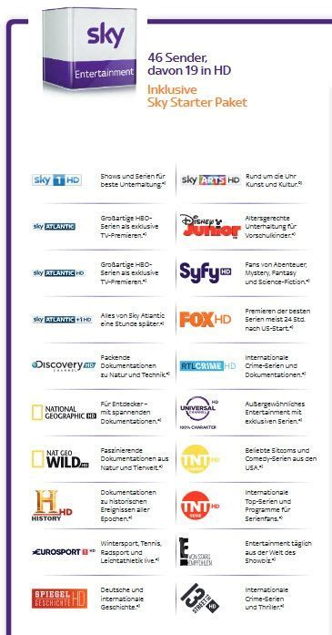 Sky Entertainment Senderliste   find all things home, all