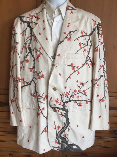 Issey Miyake for Bergdorf Goodman Vintage Embroidered Mens