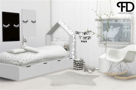 ForeverDesigns - Toddlers Diy   Sims 4 beds, Sims 4