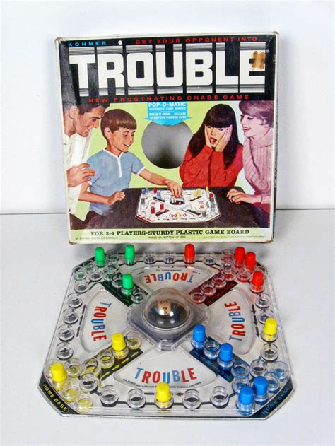 vintage TROUBLE board game