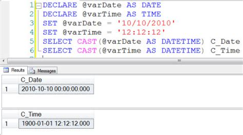 SQL SERVER - DATE and TIME in SQL Server 2008 - Journey to